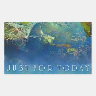 Just for Today Koi Pond Rectangular Sticker