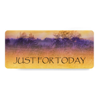 Just For Today Orange Purple Field Bookmark Card