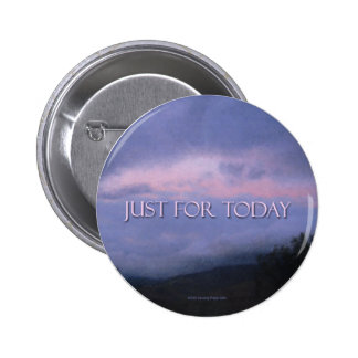 Just For Today Pink Cloud Button