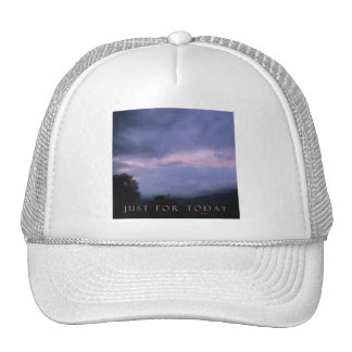 Just For Today Pink Cloud Landscape Trucker Hat