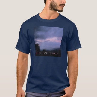 Just For Today Pink Cloud Landscape T-Shirt