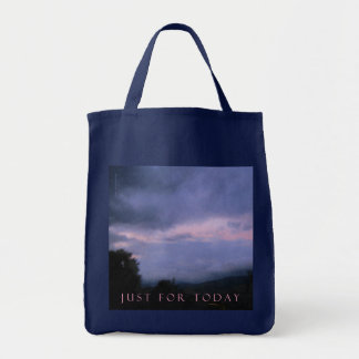 Just For Today Pink Cloud Landscape Tote Bag