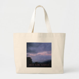 Just For Today Pink Clouds Large Tote Bag