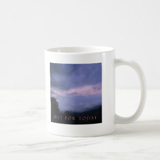 Just For Today Pink Clouds Classic White Coffee Mug