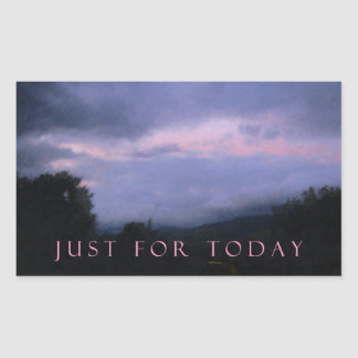 Just For Today Pink Clouds Rectangular Sticker