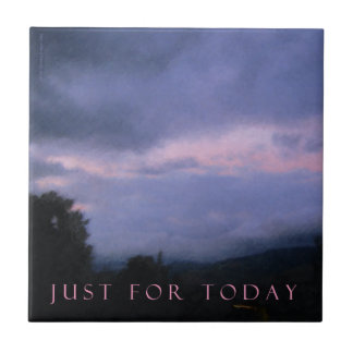 Just For Today Pink Clouds Tile
