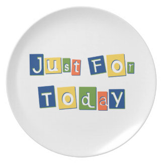 Just for Today Plates