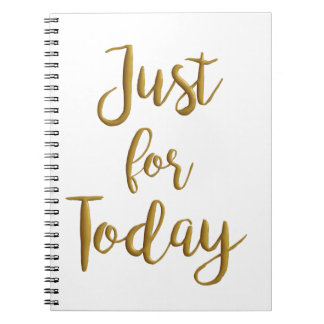 Just For Today recovery quote AA NA slogan gift Notebook