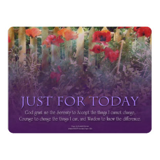 Just For Today Serenity Prayer 6.5x8.75 Paper Invitation Card