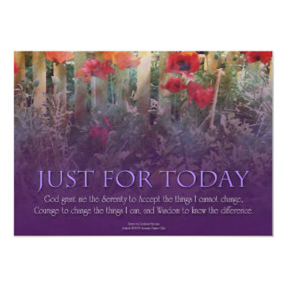 Just For Today Serenity Prayer 5x7 Paper Invitation Card