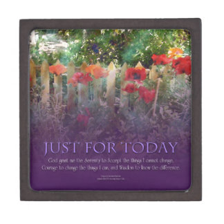 Just For Today Serenity Prayer Jewelry Box