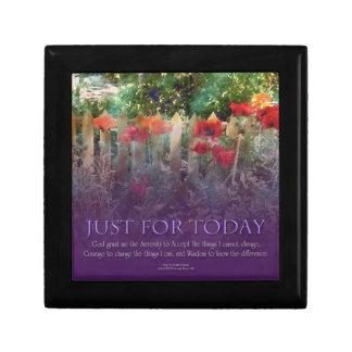 Just For Today Serenity Prayer Keepsake Box