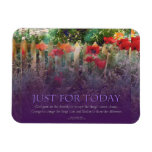 Just For Today Serenity Prayer Poppies Magnet