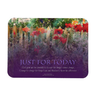 Just For Today Serenity Prayer Poppies Rectangular Photo Magnet