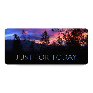 Just For Today Spring Sunrise Bookmark Card