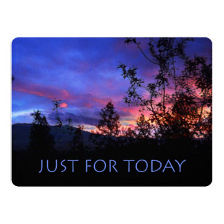 Just For Today Spring Sunrise Card