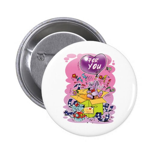 Just for you 2 inch round button