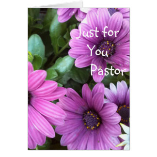 Just for you Pastor Greeting Card