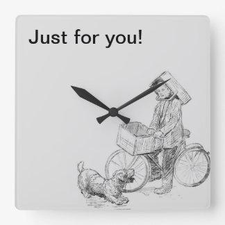 Just for you square wall clock