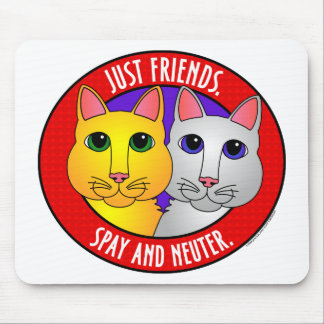 Just Friends-Cats Mouse Pad