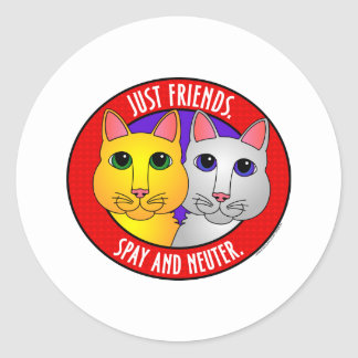Just Friends-Cats Round Stickers