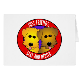 Just Friends-Dogs Greeting Cards