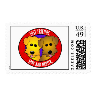 Just Friends-Dogs Postage Stamp