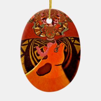 Just Funny Giraffe image design Ceramic Ornament