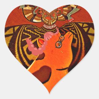 Just Funny Giraffe image design Heart Sticker