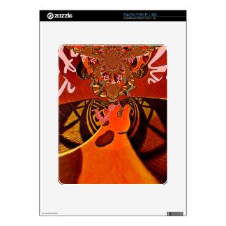 Just Funny Giraffe image design iPad Skin