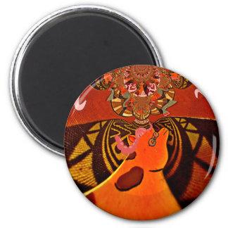 Just Funny Giraffe image design Magnet