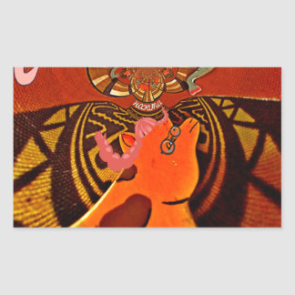 Just Funny Giraffe image design Rectangular Sticker