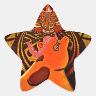 Just Funny Giraffe image design Star Sticker