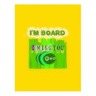 Just  Funny I Miss You I am Bored Postcard
