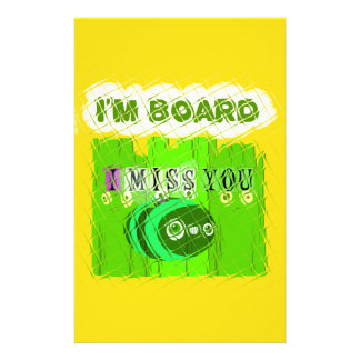 Just  Funny I Miss You I am Bored Stationery
