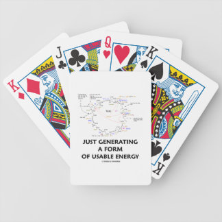 Just Generating A Form Of Usable Energy (Krebs) Bicycle Playing Cards