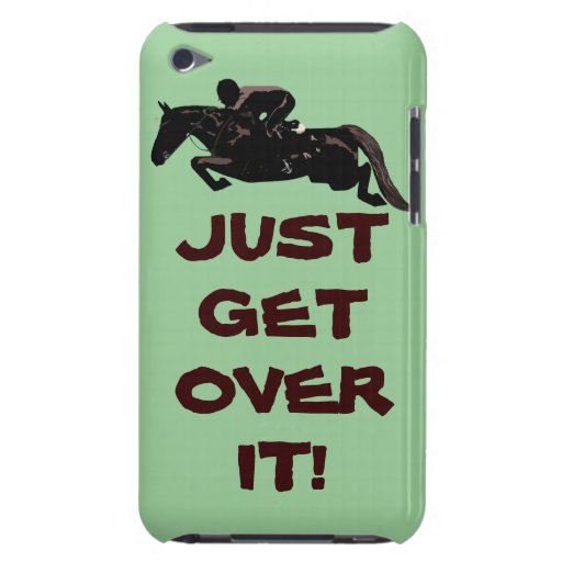 Just Get Over It Horse Jumper iPod Case-Mate Case