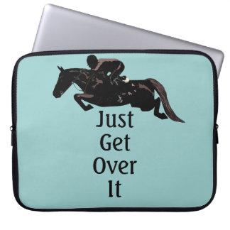 Just Get Over It Horse Jumper Laptop Bag Laptop Computer Sleeves