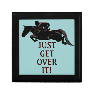 Just Get Over It Horse Jumping Jewelry Box