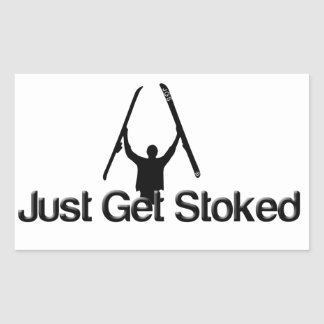 Just Get Stoked [ski] Rectangular Sticker