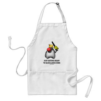 Just Getting Ready To Slice & Dice Code (Duke) Adult Apron