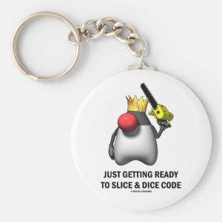 Just Getting Ready To Slice & Dice Code (Duke) Keychain