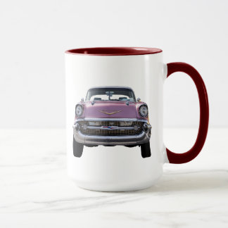 """just getting started."" '57 Chevy COFFEE MUG"