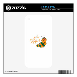 Just Giggle Decals For iPhone 4