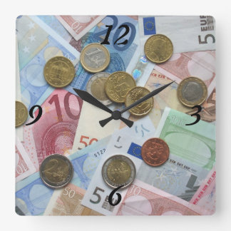 Just Gimme Money Square Wall Clocks