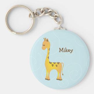 Just Giraffe Basic Round Button Keychain