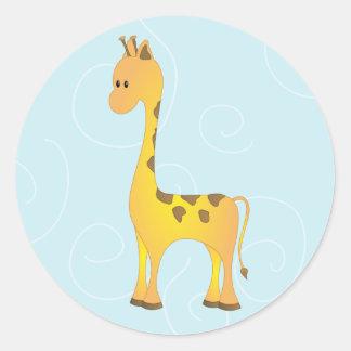 Just Giraffe Classic Round Sticker
