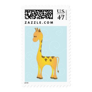 Just Giraffe Postage Stamp