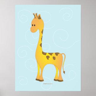 Just Giraffe Poster