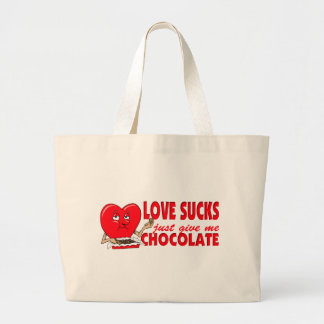 Just Give Me Chocolate Large Tote Bag